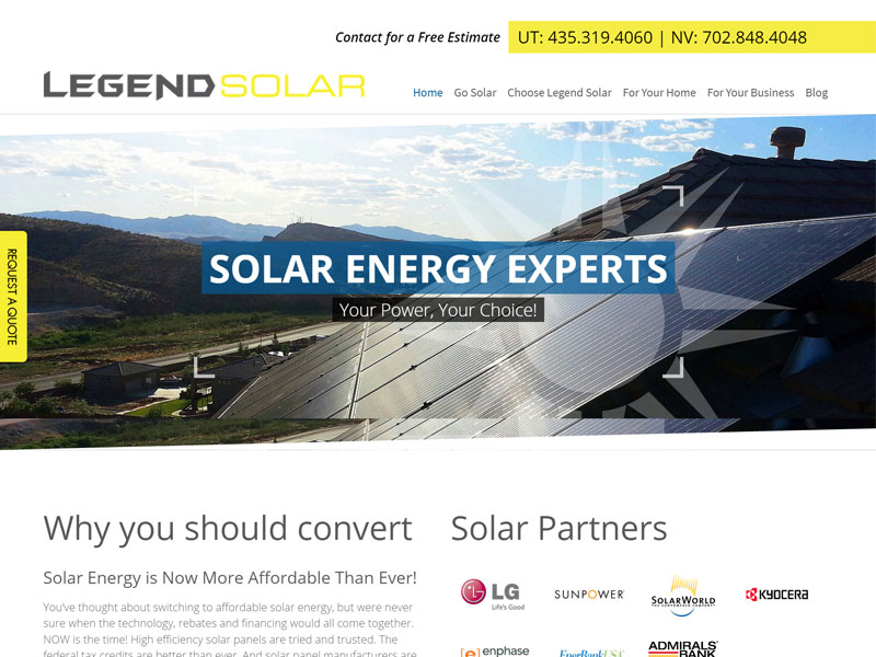 Webaholics Client Spotlight: Legend Solar