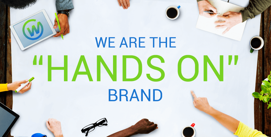 """We are the """"Hands On"""" Brand"""