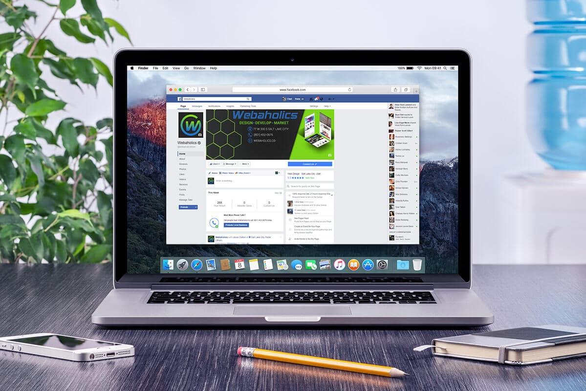 webaholics facebook business