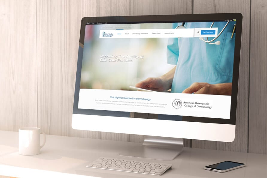 west valley dermatology web design