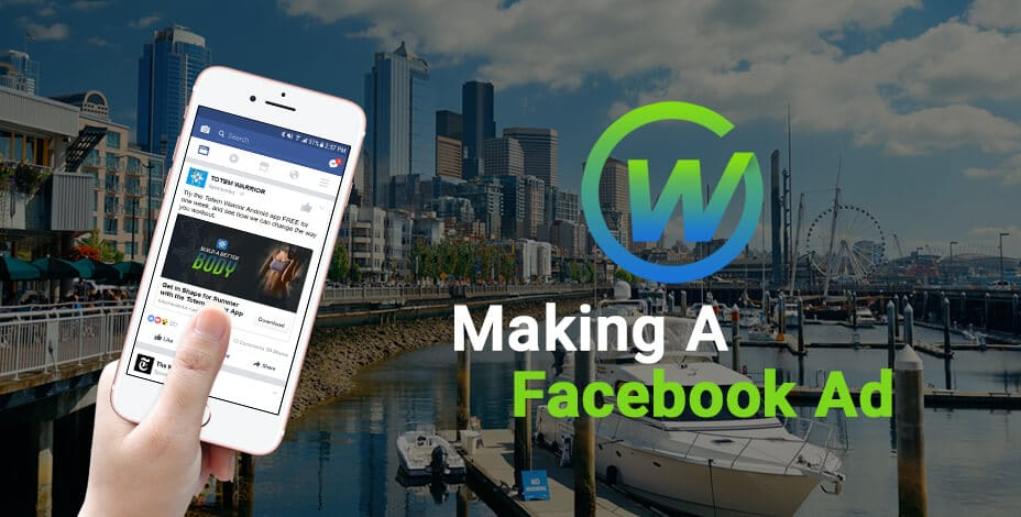 webaholics making a facebook ad