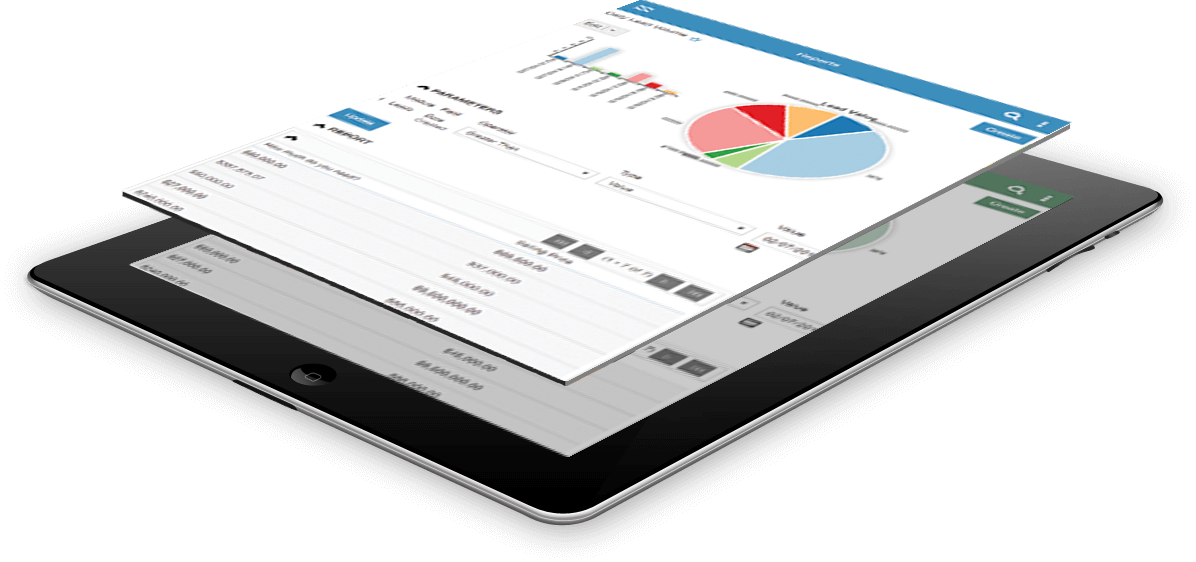 webaholics sugar crm ipad features