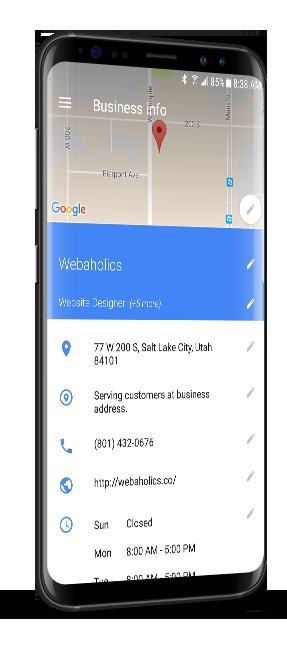 webaholics google my business