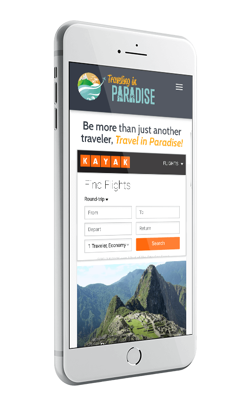 Webaholics Client Spotlight Traveling in Paradise Iphone 8