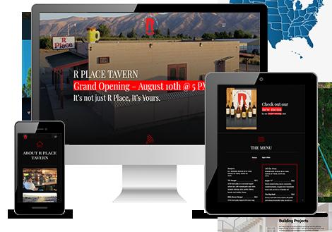 R Place Website on Mobile, Tablet and Desktop